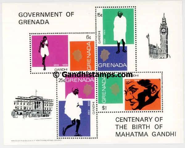 Grenada gandhi stamp