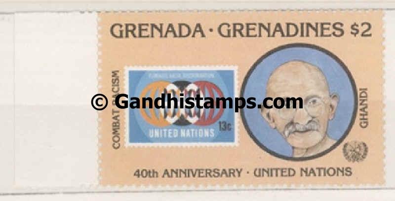 Grenadines gandhi stamp