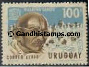 uruguay gandhi stamp