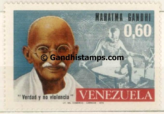 venezuela gandhi stamp